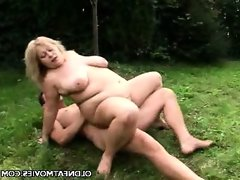 Cynthia gets nasty outdoors