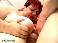 Big belly mature thumped