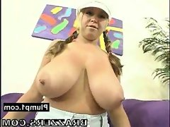 Seductive bbw boobs squeezed and pounded