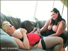Big titted bbw lesbo enjoys getting..