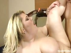Plump blonde skye sinn takes cock deep