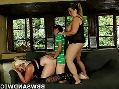 3some bbw sandwich with 2 gorgeous fat..