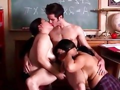 Cute chubby amateur threesome