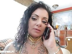 Fat belly dancer gets lost and fucked..