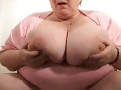 Leona -granny with huge silicone free..