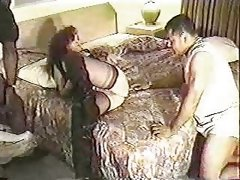 Chubby slut fucks bbc for her husband