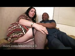 Chubby milf orgasms on black cock by..