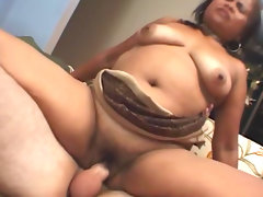Slutty fat babe is riding on the hard..