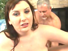 Fat babe was fucked in her holes by 3..