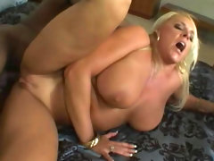 Black anal penetration with blonde..