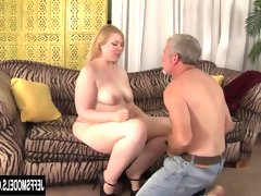 Blonde plumper ilena kuryakin rides on..