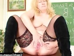 Well-endowed wifey teacher fucks..