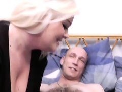 Hot blonde plumper riding married mans..