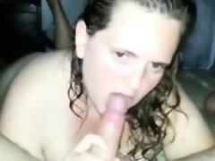 Chubby amateur chick eating his butthole