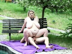 Bbw rebecca punishes her slave by the..
