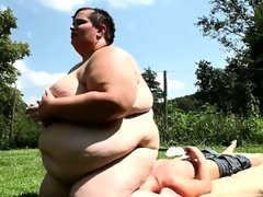 The fattest woman on earth sits on..