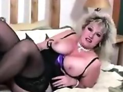 Thick mature slut in black stockings